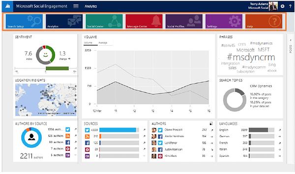 Microsoft Social Engagement Section Navigation