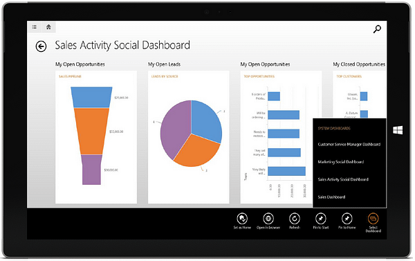 Dynamics CRM 2015 - Tablet
