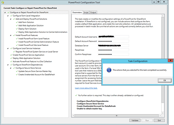 PowerPivot Configuration Tool
