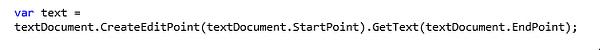 Visual Studio Custom Command TextDocument