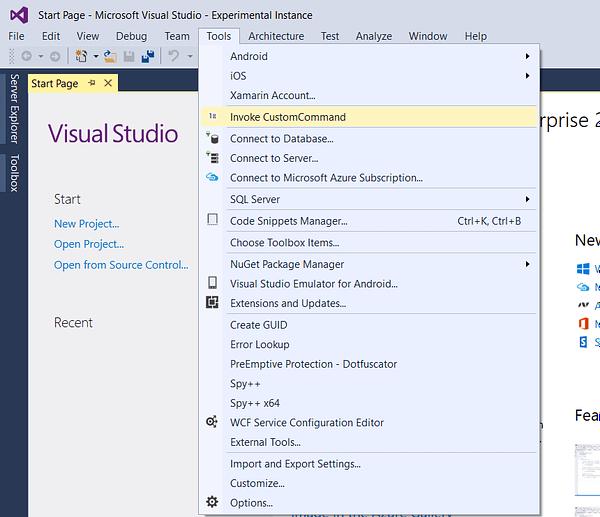 Visual Studio CustomCommand