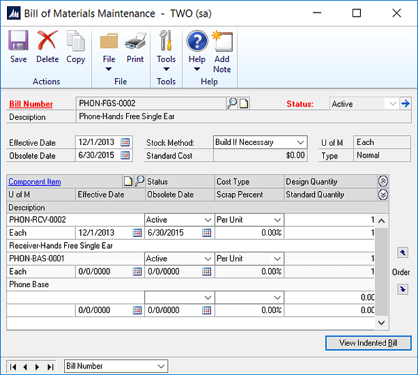 gp-bill-of-materials-maintenance, Microsoft, Microsoft Dynamics GP, Assembly, Manufacturing, Bill of Materials, Components, Finished goods, Accounting