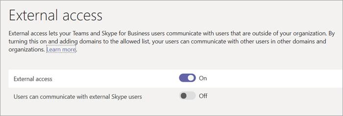 Microsoft Teams External Access image