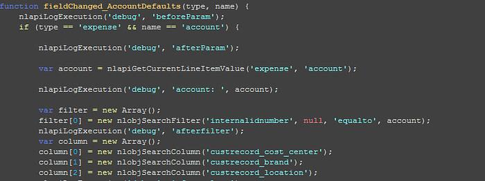 netsuite-customization-sample-script