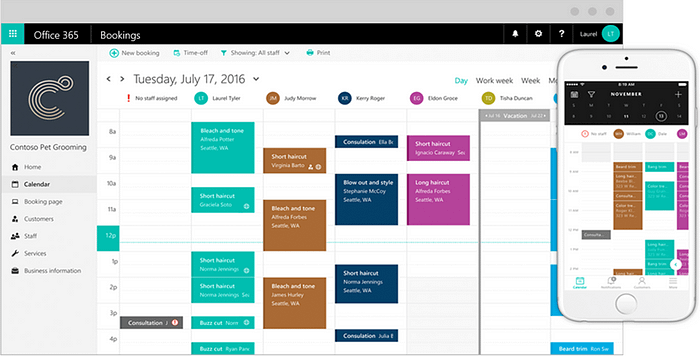 Bookings, Office 365, Facebook, Integration, Scheduling, Productivity, Social Media