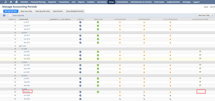 NetSuite non-GL screenshot