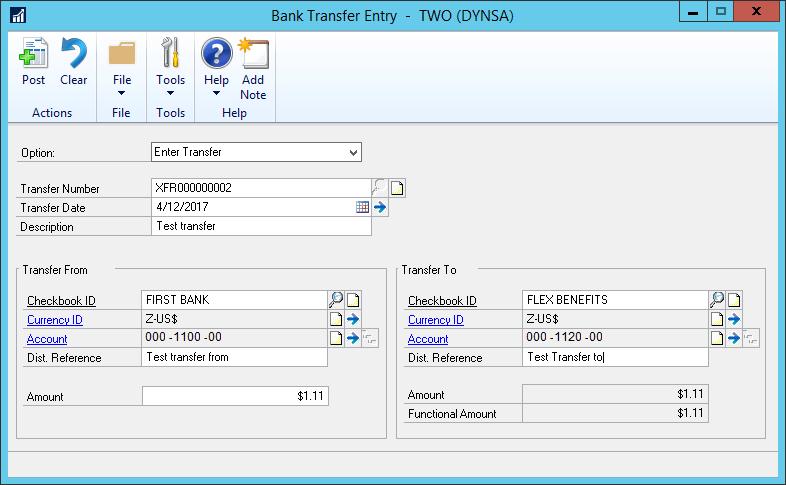 Dynamics_GP_Bank_Transfer_Entry_TWO_DYNSA